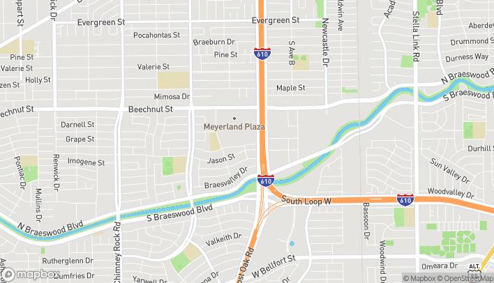 Map of 232 Meyerland Plaza in Houston