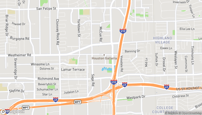 Map of 5135 W. Alabama St in Houston