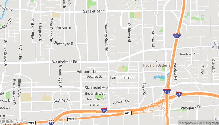 Map of 5661 Westheimer Road in Houston