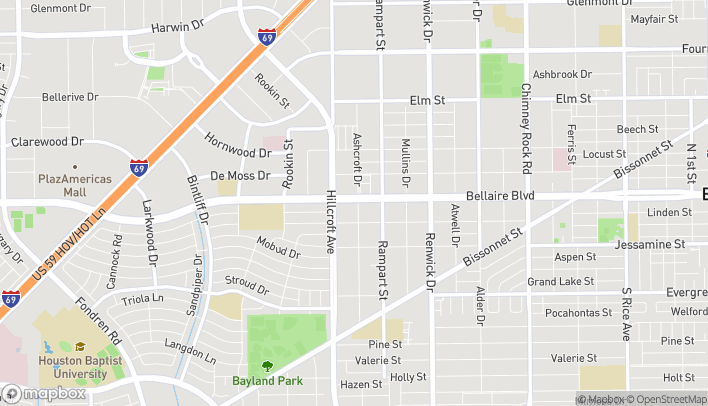 Map of 6221 Bellaire Blvd in Houston