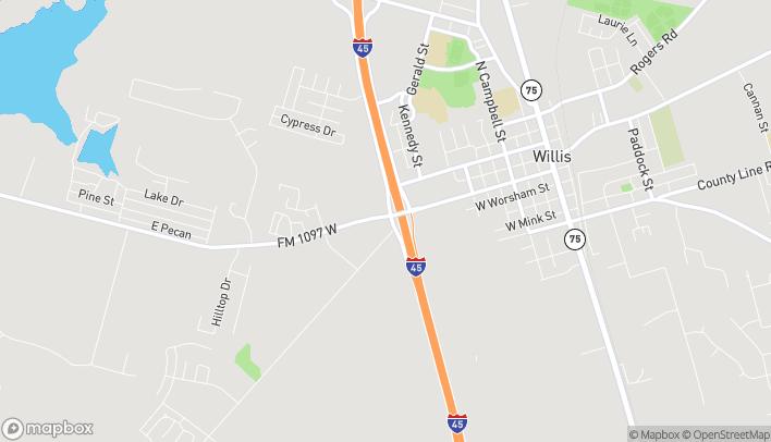 Mapa de 9375 FM 1097 Rd W en Willis