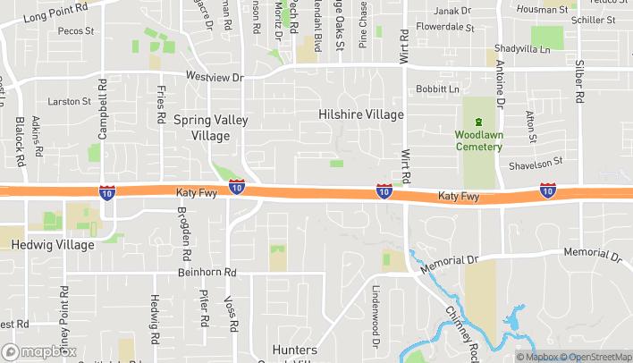 Map of 8412 Katy Freeway in Houston