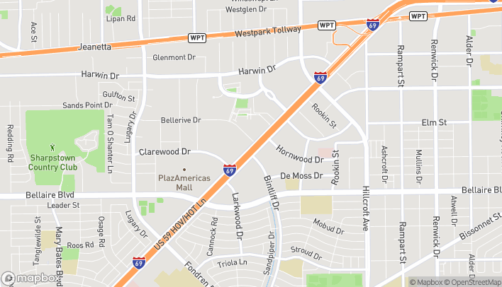 Map of 6906 Southwest Freerway in Houston