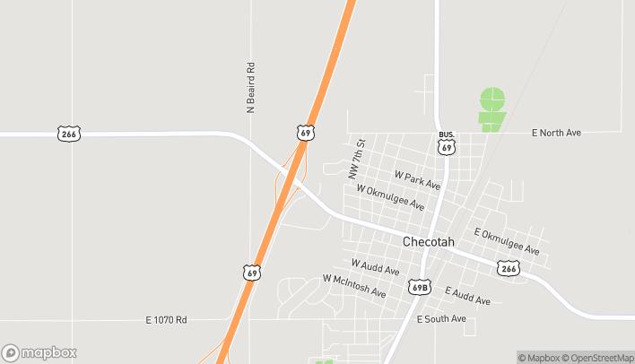 Mapa de 111 NW 9th St en Checotah