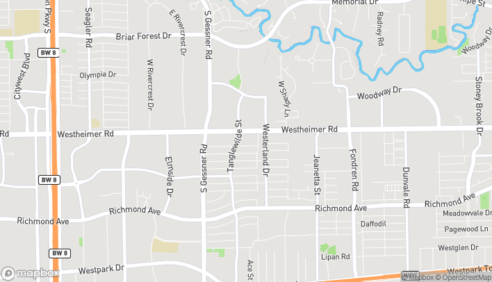 Map of 9527 Westheimer Rd in Houston