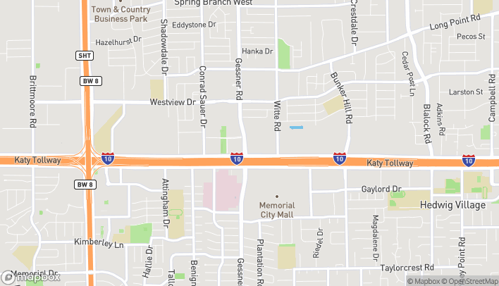 Map of 1018 North Gessner Rd in Houston