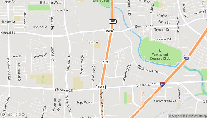 Map of 9380 W Sam Houston Pkwy S in Houston