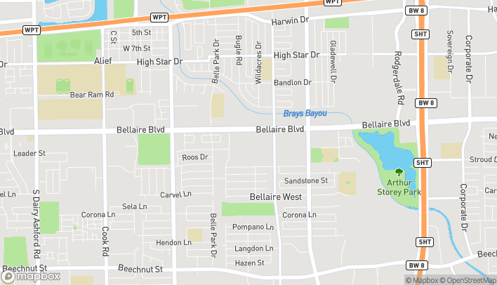 Map of 11209 Bellaire Blvd in Houston