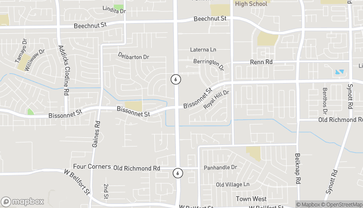 Map of 9319 Highway 6 S in Houston