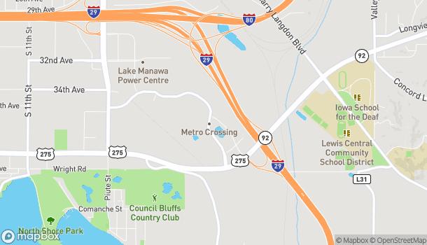 Mapa de 3701 Metro Dr en Council Bluffs