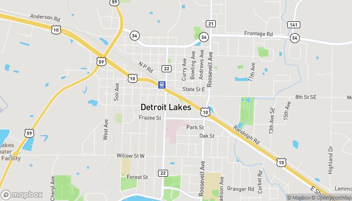 Mapa de 133 Veterans Memorial Parkway en Detroit Lakes
