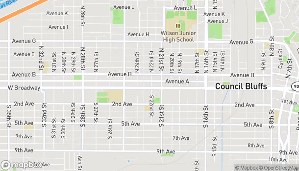 Map of 2200 W Broadway in Council Bluffs