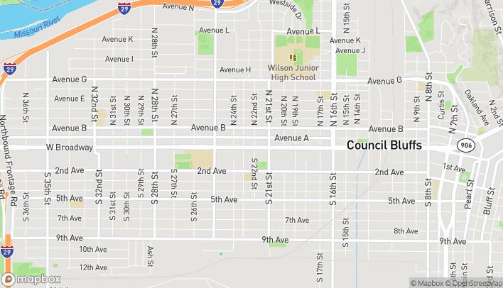Mapa de 2200 W Broadway en Council Bluffs