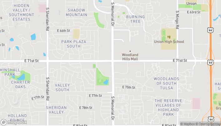 Map of 7102 S Memorial in Tulsa