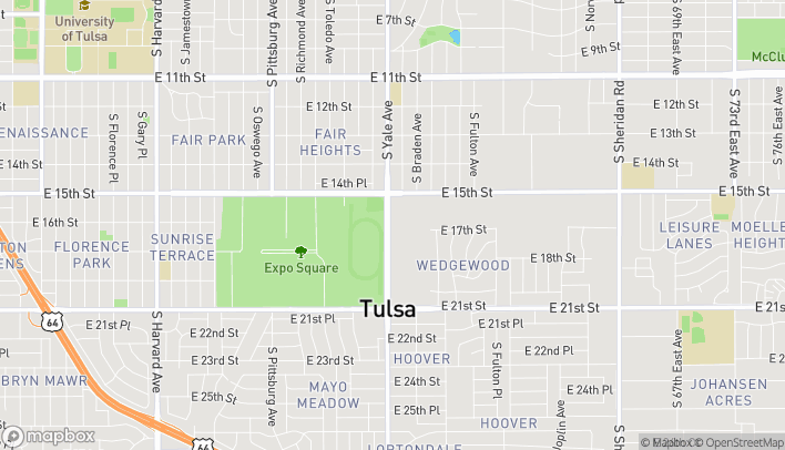 Map of 1625 S Yale Ave in Tulsa