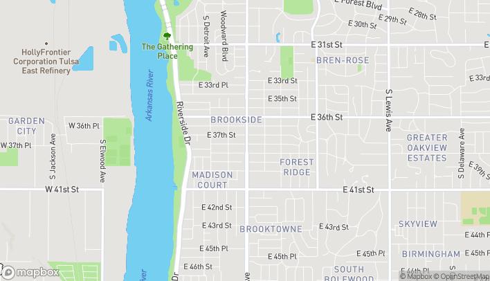 Map of 3722 S Peoria Ave in Tulsa