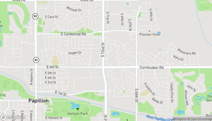 Mapa de 9614 South 71st Plaza en Papillion