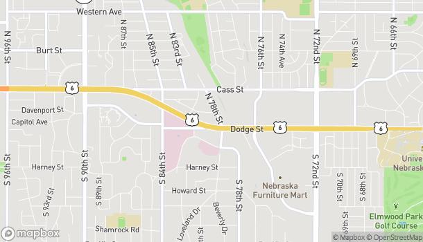 Mapa de 7820 Dodge St en Omaha