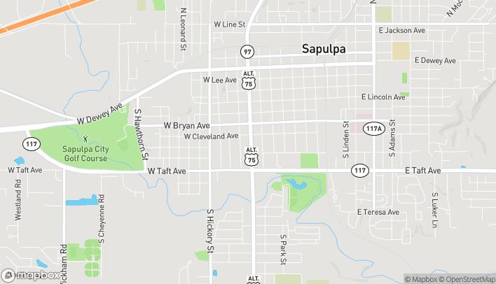 Mapa de 618 S Main St en Sapulpa