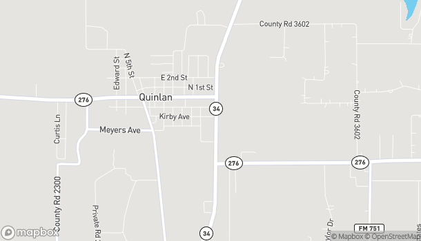 Map of 8826 State Hwy 34 in Quinlan