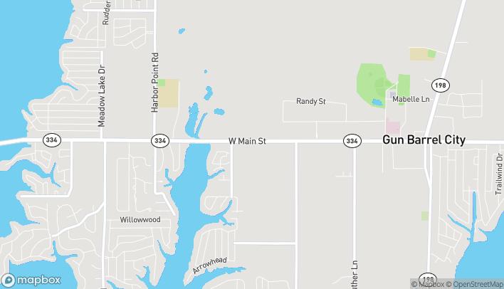 Mapa de 1117 W Main St en Gun Barrel City