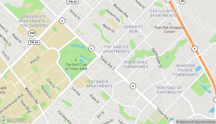Map of 1505 Texas Ave S in College Station