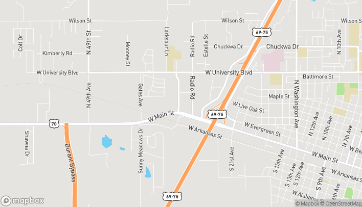 Map of 308 University Place in Durant