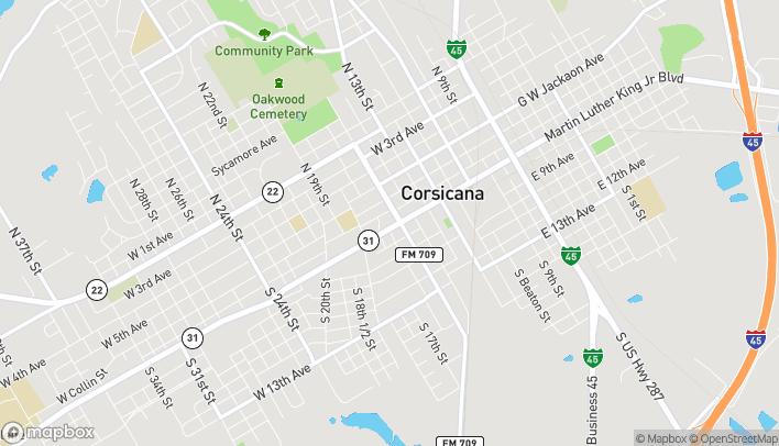 Mapa de 610 W 7th Avenue en Corsicana