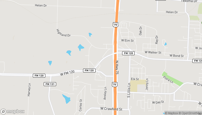 Map of 3515 W FM 120 in Denison