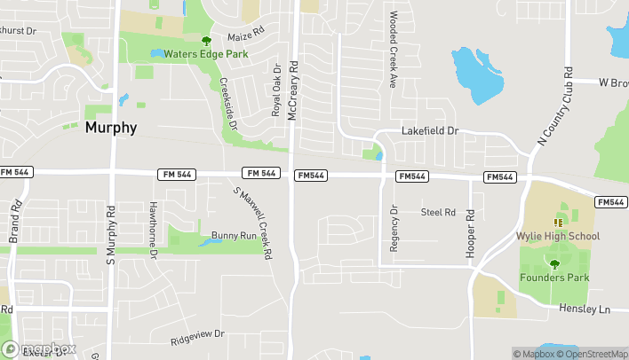 Map of 3460 West FM 544 in Wylie