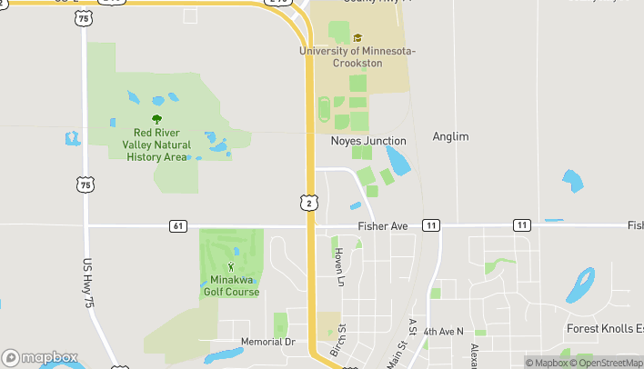 Map of 2015 Sahlstrom Drive in Crookston