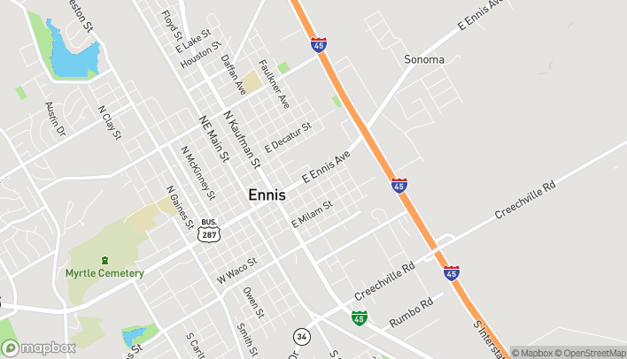 Mapa de 609 E Ennis Ave en Ennis