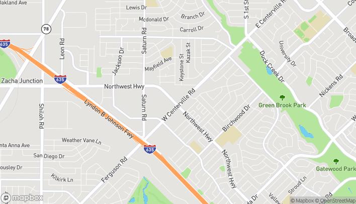 Map of 901 Northwest Hwy in Garland