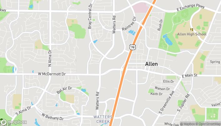 Map of 816 W McDermott Dr in Allen