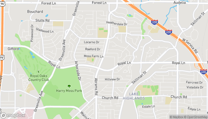 Map of 8520 Abrams Rd in Dallas