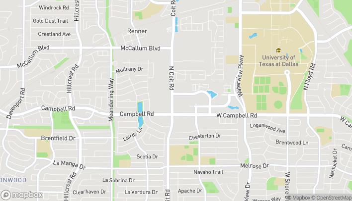 Map of 2160 N Coit Rd in Richardson