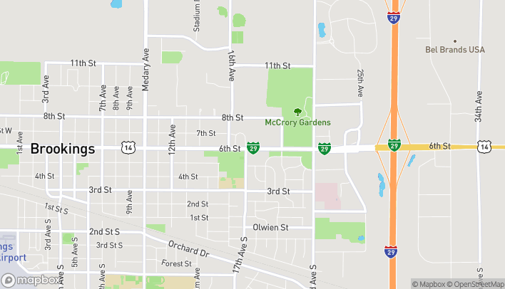Map of 1707 6th St in Brookings