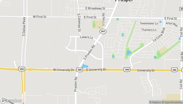 Map of 1101 S. Preston Rd in Prosper
