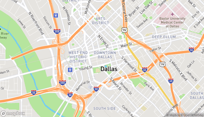Map of 308 S. Akard St in Dallas