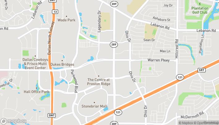 Map of 3551 Preston Rd in Frisco