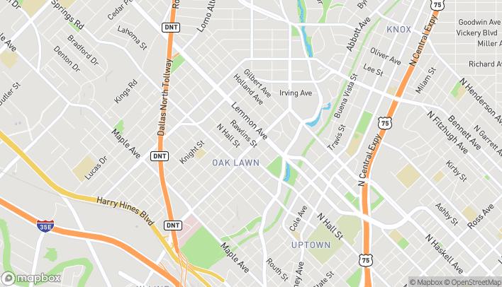Map of 3329 Oak Lawn Avenue in Dallas