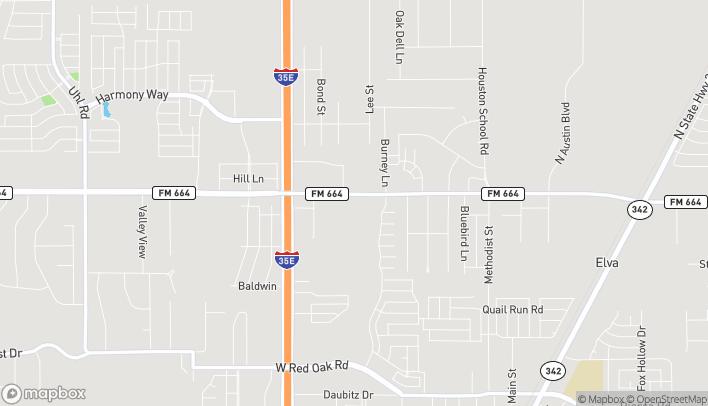 Mapa de 109 East Ovilla Rd en Red Oak