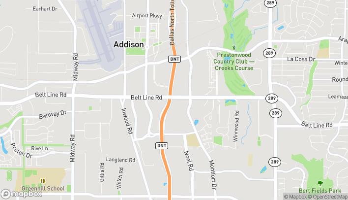 Mapa de 5100 Beltline Road en Addison