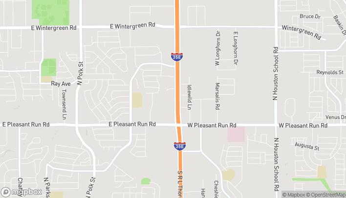 Mapa de 1001 N Interstate 35E en Desoto