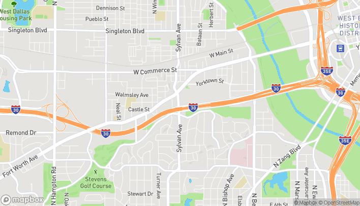 Map of 1818 Sylvan Ave in Dallas
