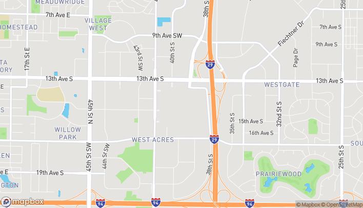 Mapa de 3902 13th Ave S en Fargo