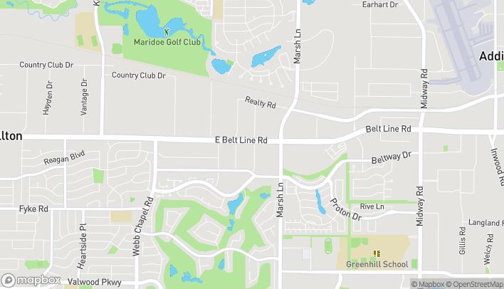 Mapa de 3504 Belt Line Rd en Farmers Branch