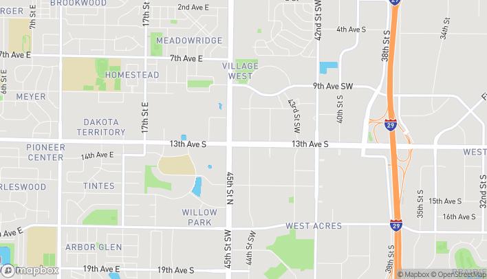 Mapa de 4417 13th Ave S en Fargo