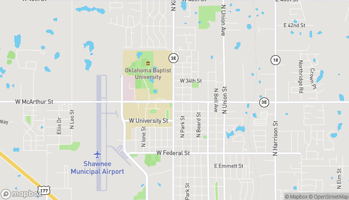 Map of 434 W Macarthur Ave in Shawnee