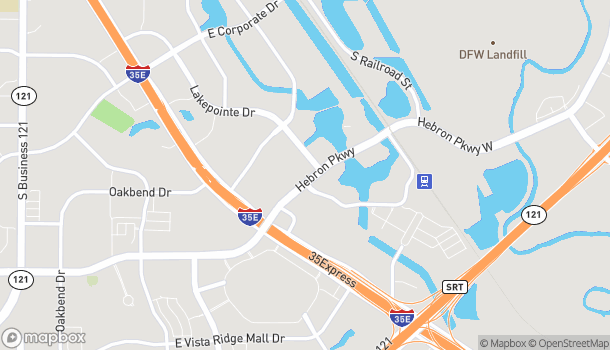 Map of 729 Hebron Pkwy in Lewisville